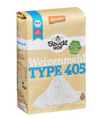 Bauckhof Weizenmehl Type 405, 1 kg