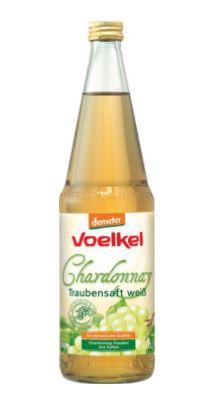 Voelkel Chardonnay Traubensaft, weiß, 0,7 l