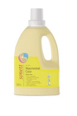 Sonett Waschmittel Color Mint & Lemon 30° 40° 60°C, 1,5l